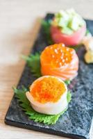 Selective focus point on sushi roll