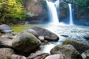 paisaje de cascadas foto