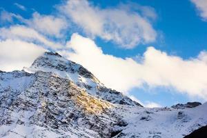 montaña nieve paisaje naturaleza