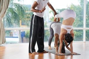 Partner yoga photo