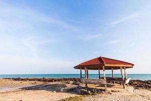 Landscape pavilion in the sea photo