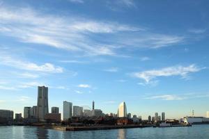 paisaje de japón en la ciudad de yokohama foto
