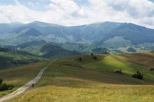 Landscape in the Ukrainian Carpathians photo
