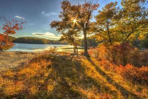 coloridos paisajes paisajes de otoño. foto
