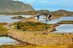 hermoso paisaje de noruega, escandinavia