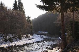 paisaje de invierno en la república checa foto