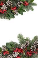 fronteira de inverno festivo