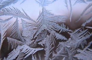 ventana de invierno congelado