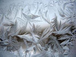 bevroren wintervenster