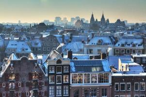 Amsterdam winter skyline photo