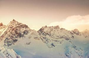 montañas de invierno