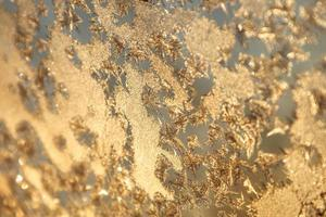 janela de inverno brilhante gelo decoração
