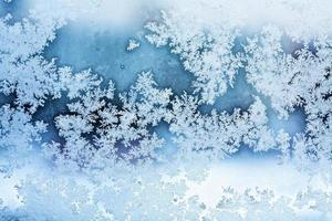winter ice rime abstract background