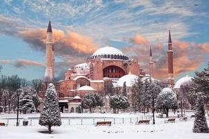 hagia sophia in de winter