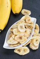 chips de plátano foto