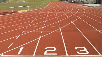 Running track starting blocks photo