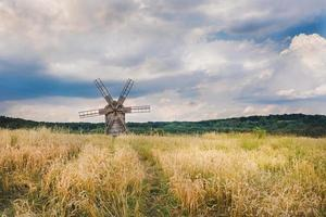 windmill in a wheat field