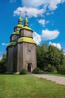 Wooden ukrainian ancient church