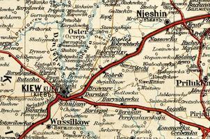 vintage Ukraine map fragment