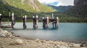 Pier in lake photo