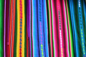 Colorful Guatemala Mayan Textiles in Antigua Market