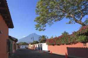 Colonial buildings in Antigua, Guatemala photo