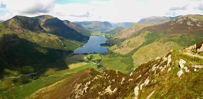 Buttermere as I climb Fleetwith Pike