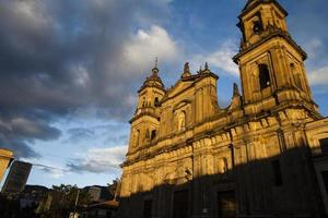 bogota cathedral and city photo