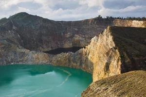 Kelimutu color lakes photo