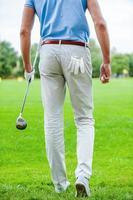 Listo para jugar al golf. foto