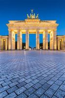 Brandenburg Gate in twilight at dawn, Berlin, Germany