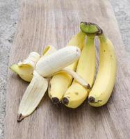 banana on wood photo