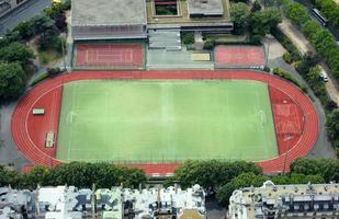 Empty stadium soccer field