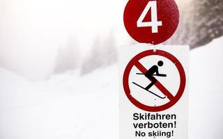 no esquiar