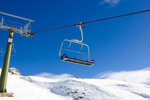 Ski chairlifts photo