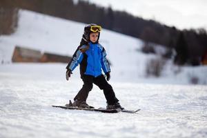Little ski girl photo