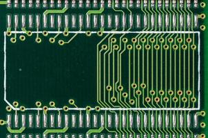 Detail of a printed circuit board photo