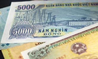 Banknote in five thousand Vietnamese dong close up