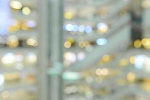 Fondo de centro comercial borrosa. Antecedentes del centro comercial. foto