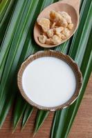 ingrediente para el postre tailandés foto