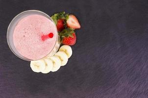 Strawberry and banana smoothie photo