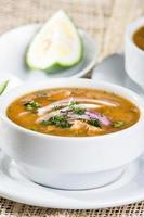Delicious encebollado fish stew from Ecuador photo