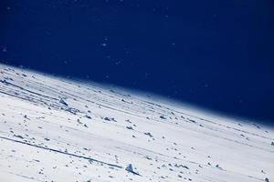 nieve de montaña foto