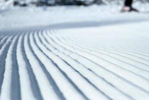 Prepared ski slope photo