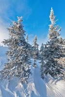 Ski resort Sheregesh, Kemerovo region, Russia. photo