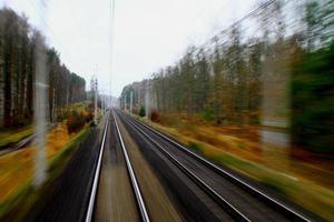 Train running forest