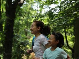 corriendo en el parque yoyogi foto