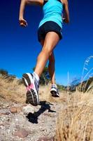 fast running athlete