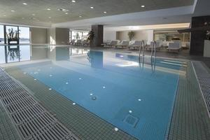 inside pool of hotel