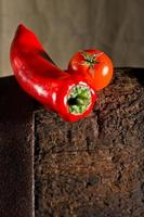 tomate e pimento